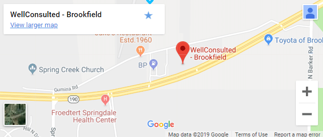 Map of Brookfield Wellness Services